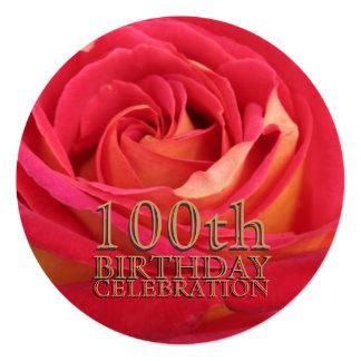 S'est levée la 100th invitation de coutume de