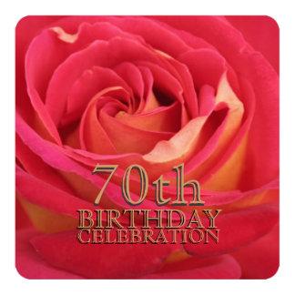 S'est levée la soixante-dixième invitation de carton d'invitation  13,33 cm