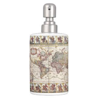 Set De Salle De Bain 1652 carte du monde, carte du monde d'atlas de mer