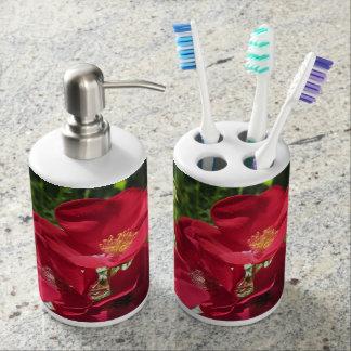 Set De Salle De Bain Brosse à dents simple/dispens de roses rouges