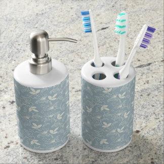 Set De Salle De Bain Ensemble floral bleu de salle de bains
