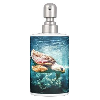 Set De Salle De Bain La vie sous-marine merveilleuse de tortue de mer