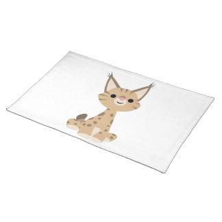 Set de table mignon de Lynx de bande dessinée