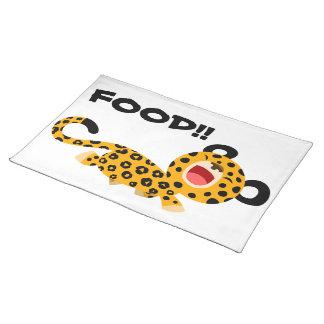 Set de table plaisant de léopard de bande dessinée