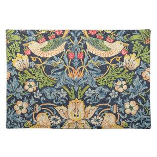 Set De Table Schéma floral William Morris Strawberry Thief
