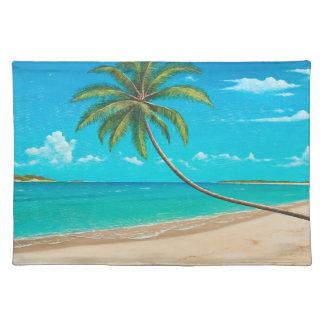 Set de table tropical d île