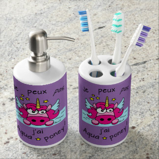 "Sets de salle de bain ""Licorne, Aquaponey"""