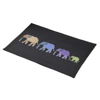 Sets de table de coutume d éléphants africains