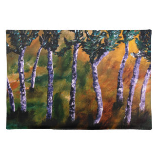 Sets de table de forêt de bouleau