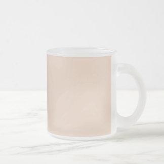 Seulement arrière - plan OSCB07 solide de rose Mug En Verre Givré