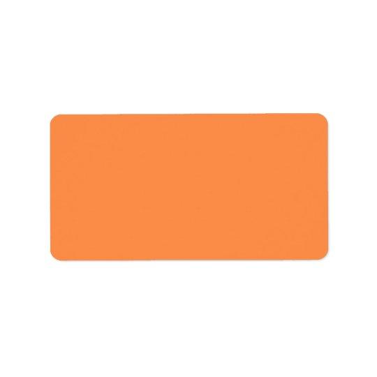 Seulement couleur assez solide OSCB46 d'orange de Étiquette D'adresse