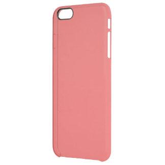 Seulement couleur solide élégante rose de corail coque iPhone 6 plus