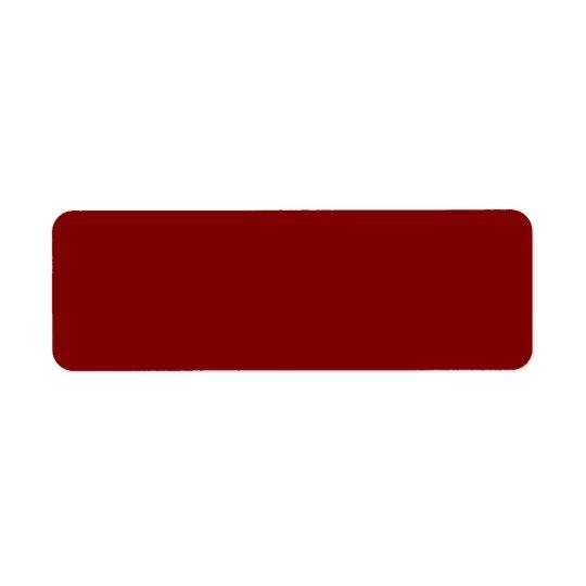 Seulement couleur solide OSCB04 de rouge foncé Étiquette D'adresse Retour