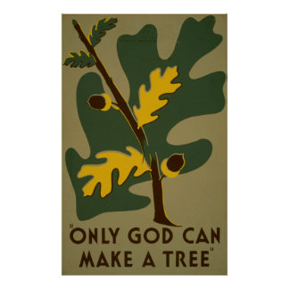 Seulement Dieu peut faire un poster vintage de WPA