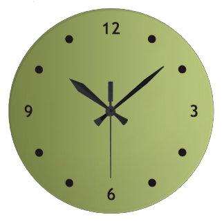 SEULEMENT gradients de COULEUR - vert olive + poin Horloges