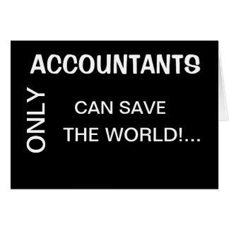 Seulement les comptables mettent en boîte le monde cartes