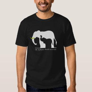 Seulement les éléphants devraient porter l'ivoire t-shirts
