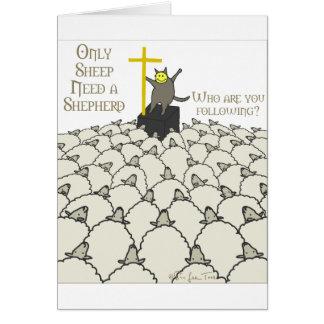 Seulement les moutons ont besoin d'un berger cartes