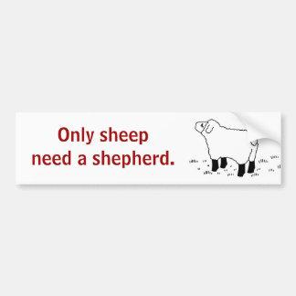 Seulement les moutons ont besoin d'un _sticker de  autocollant pour voiture
