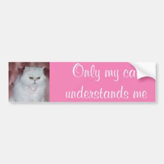 Seulement mon chat me comprend Persan d'adhésif Autocollant De Voiture