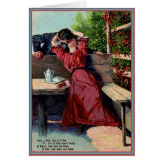 Seulement votre baiser - carte vintage de