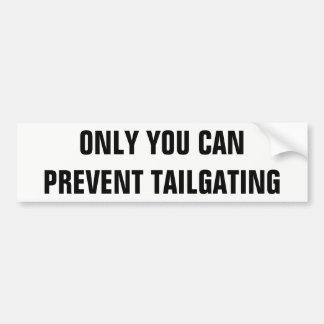 Seulement vous pouvez empêcher le folio de autocollant de voiture