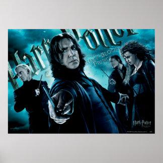 Severus Snape avec les mangeurs 1 de la mort Poster