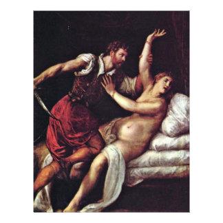 Sextus Tarquinius et Lucretia par Tizian Prospectus Personnalisés