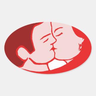 sexy love sticker ovale