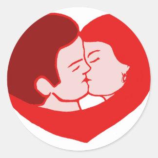 sexy love sticker rond