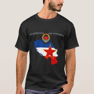 SFR Yougoslavie - carte - Emlem - T-shirt de