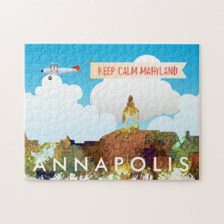 SG d'horizon d'Annapolis, le Maryland - cuir épais Puzzle