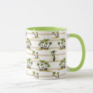 Shack tropical et paumes mug