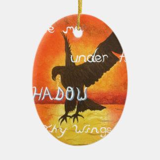 shadowwings ornement ovale en céramique