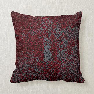 Shagreen rouge et gris coussins carrés