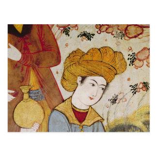 Shah Abbas I et une offre de courtisan Carte Postale