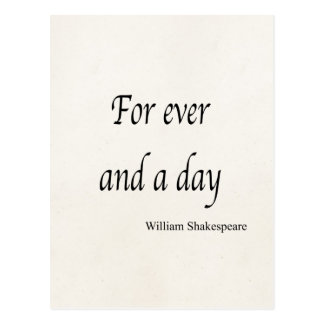 Shakespeare a personnalisé la citation pour jamais carte postale