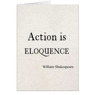 Shakespeare a personnalisé l'action de citation cartes