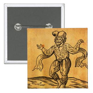 Shakespeare bouton de carré de gravure sur bois en badge