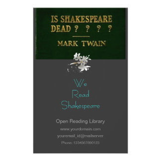 Shakespeare est-il mort ? prospectus avec motif