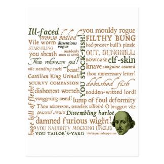 Shakespeare insulte la collection carte postale