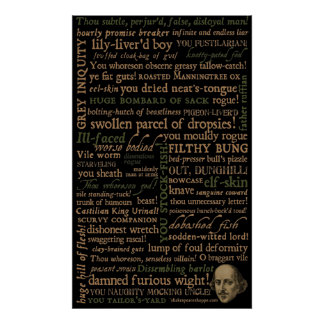 Shakespeare insulte la collection posters
