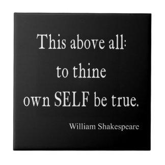 Shakespeare que la citation à Thine possèdent Petit Carreau Carré
