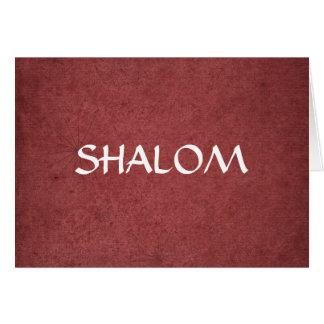 Shalom a affligé le rouge carte de vœux