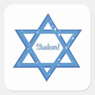 Shalom ! sticker carré