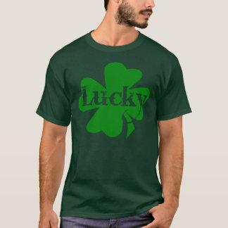 Shamrock chanceux de vert de jour de St Patricks T-shirt