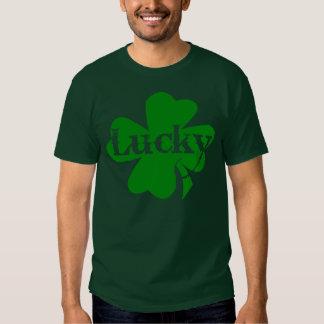 Shamrock chanceux de vert de jour de St Patricks T-shirts