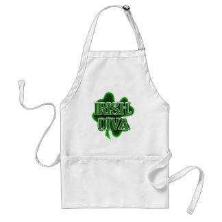 Shamrock du jour de St Patrick IRLANDAIS de DIVA Tablier