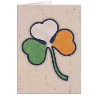 Shamrock irlandais chanceux carte de vœux