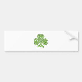 Shamrock irlandais chanceux vert de fantaisie adhésif pour voiture